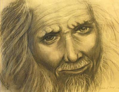 Drawing - Expression Of An Elder by Linda Nielsen