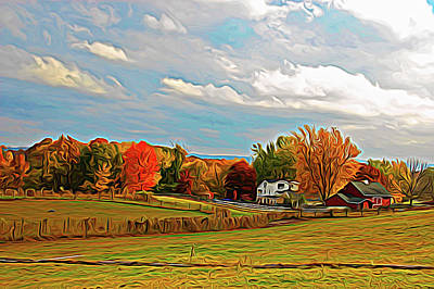 Photograph - Expressionalism Autumn Farm by Aimee L Maher Photography and Art Visit ALMGallerydotcom