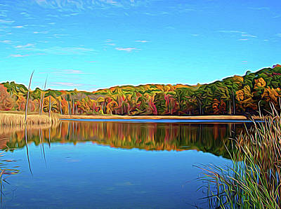 Photograph - Expressionalism Autumn Pond by Aimee L Maher Photography and Art Visit ALMGallerydotcom