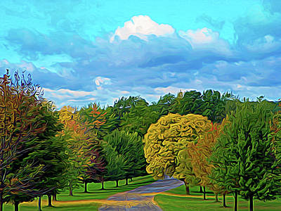 Photograph - Expressionalism Autumn Road by Aimee L Maher Photography and Art Visit ALMGallerydotcom