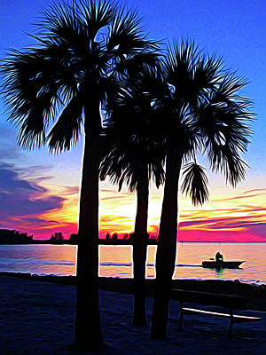 Photograph - Expressionalism Beach Sunset by Aimee L Maher Photography and Art Visit ALMGallerydotcom