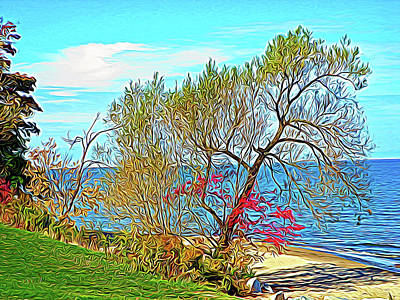 Photograph - Expressionalism Beach Tree by Aimee L Maher Photography and Art Visit ALMGallerydotcom