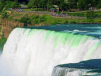 Photograph - Expressionalism Niagara Falls 10 by Aimee L Maher Photography and Art Visit ALMGallerydotcom