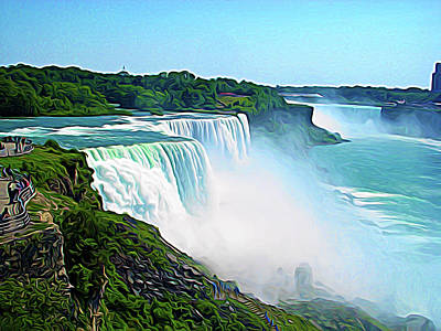 Photograph - Expressionalism Niagara Falls by Aimee L Maher Photography and Art Visit ALMGallerydotcom
