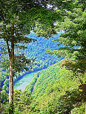 Photograph - Expressionalism Peaceful River by Aimee L Maher Photography and Art Visit ALMGallerydotcom