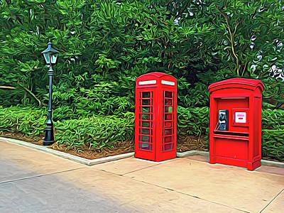 Photograph - Expressionalism Red Telephone Booth by Aimee L Maher Photography and Art Visit ALMGallerydotcom