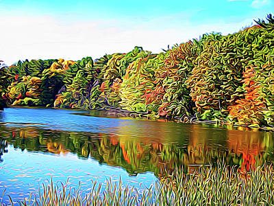 Photograph - Expressionalism Reflecting Trees by Aimee L Maher Photography and Art Visit ALMGallerydotcom