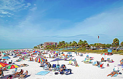 Photograph - Expressionalism Relaxing At Fort Myers Beach by Aimee L Maher Photography and Art Visit ALMGallerydotcom