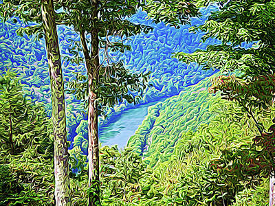 Photograph - Expressionalism River Thru The Trees by Aimee L Maher Photography and Art Visit ALMGallerydotcom