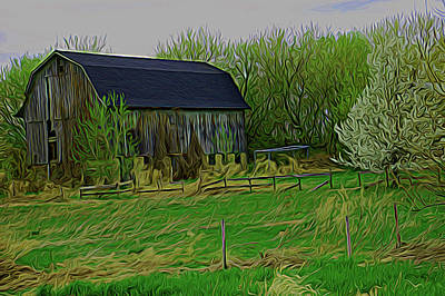 Photograph - Expressionalism Rustic Barn by Aimee L Maher ALM GALLERY