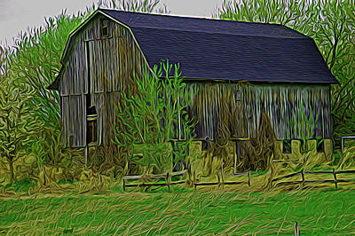 Photograph - Expressionalism Rustic Barn Close Up by Aimee L Maher Photography and Art Visit ALMGallerydotcom