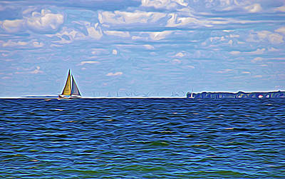 Photograph - Expressionalism Sailing The Blue by Aimee L Maher Photography and Art Visit ALMGallerydotcom