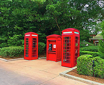 Photograph - Expressionalism Telephone Booths by Aimee L Maher Photography and Art Visit ALMGallerydotcom