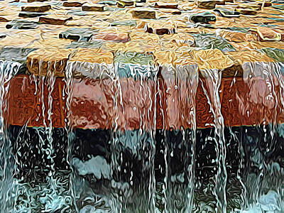 Photograph - Expressionalism Waterfall Abstract by Aimee L Maher Photography and Art Visit ALMGallerydotcom