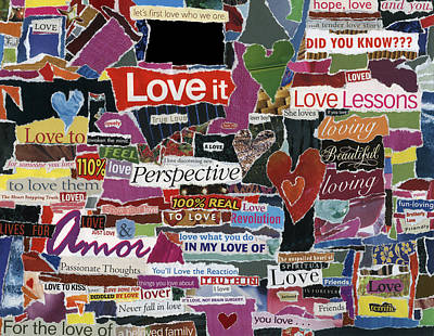 expression'd Love  Art Print