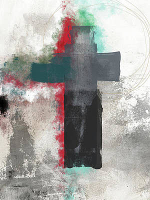 God Mixed Media - Expressionist Cross 4- Art By Linda Woods by Linda Woods