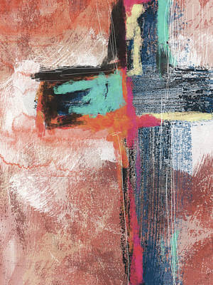 God Mixed Media - Expressionist Cross 5- Art By Linda Woods by Linda Woods