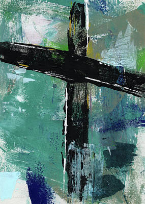 Contemporary Mixed Media - Expressionist Cross 8- Art By Linda Woods by Linda Woods