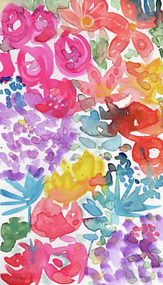 Floral Mixed Media - Expressionist Watercolor Garden- Art By Linda Woods by Linda Woods