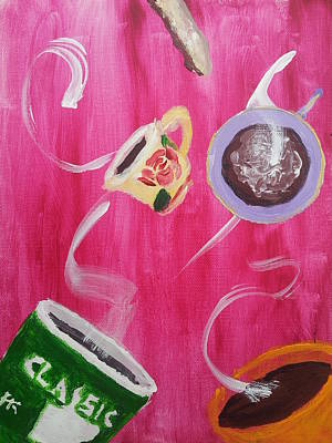 Wall Art - Painting - Expressions Of Espresso by Helen Krummenacker