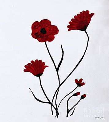 Painting - Expressive Abstract Poppies A61516 by Mas Art Studio