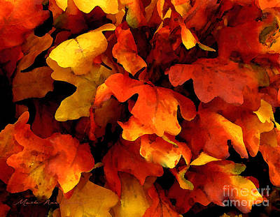 Painting - Expressive Autumn Leaves 8-15-15 by Mas Art Studio