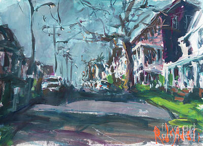 Painting - Expressive Cityscape Painting by Robert Joyner