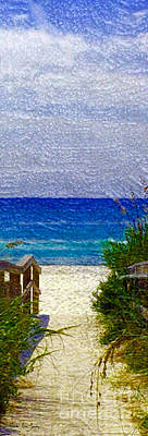 Painting - Expressive Digital Photo Pensacola Florida B52816 by Mas Art Studio