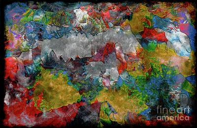 Painting - Expressive Mixed Media Abstract U31112b by Mas Art Studio