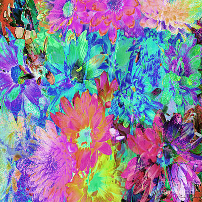 Painting - Expressive Digital Still Life Floral B721 by Mas Art Studio