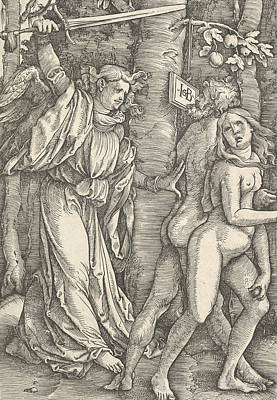Relief - Expulsion From Paradise by Hans Baldung Grien