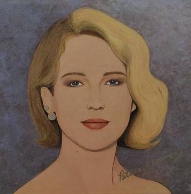 Painting - Exquisite - Jennifer Lawrence by Patricia Brewer-Cummings