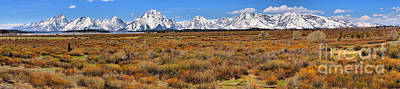 Photograph - Extended Willow Flats Panorama by Adam Jewell