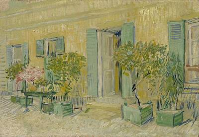 Painting - Exterior Of A Restaurant In Asnieres Paris Vincent Van Gogh 1853  1890 by Artistic Panda
