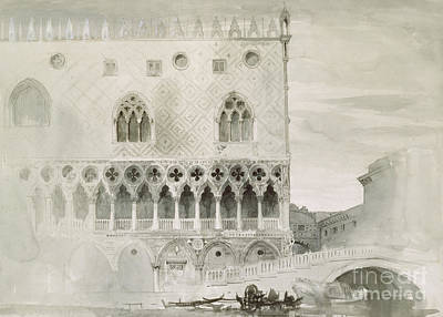 Art Of Building Painting - Exterior Of Ducal Palace, Venice, 19th Century by John Ruskin