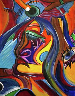 Painting - External Loop  by Romy Kelly