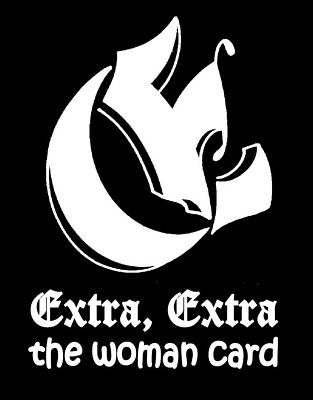 Drawing - Real Fake News Woman Card by Dawn Sperry