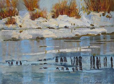Painting - Extra Thin Ice by Len Stomski