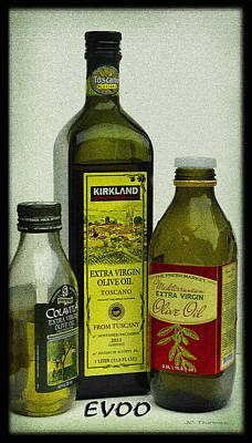 Photograph - Extra Virgin Olive Oil by James C Thomas