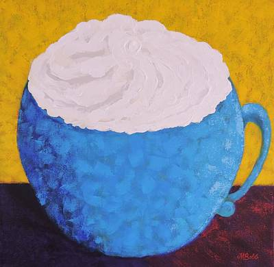 Painting - Extra Whip Please by Margaret Bobb