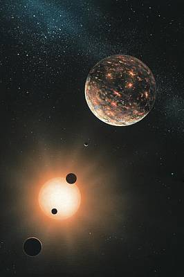 Planet System Photograph - Extrasolar Planets, Artwork by Richard Bizley