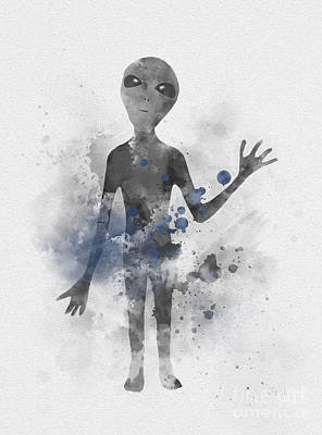 Paranormal Mixed Media - Extraterrestrial by Rebecca Jenkins