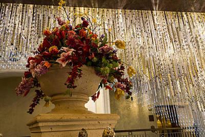 Contemporary Jewellery Photograph - Extravagant Flower Arrangements And Brilliant Crystal Chandeliers by Georgia Mizuleva