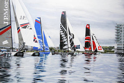 Extreme Sailing Series, Cardiff, 2014 Art Print