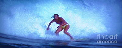 Photograph - Extreme Surfing Of Woman by Stanley Morganstein