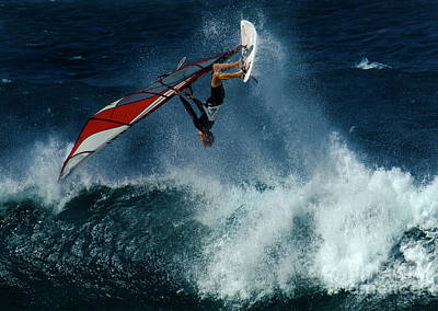 Hawaii Dog Photograph - Extreme Wind Surfing Hawaii 1 by Bob Christopher