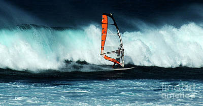 Photograph - Extreme Wind Surfing Hawaii 3 by Bob Christopher