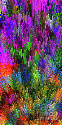 Multicolored Digital Art - Extruded City Of Color By Kaye Menner by Kaye Menner