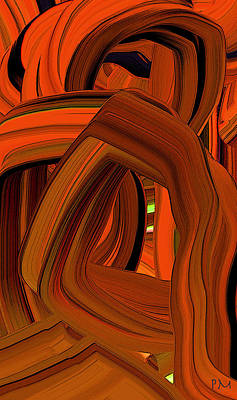 Digital Art - Extruded Color 5 by Phillip Mossbarger