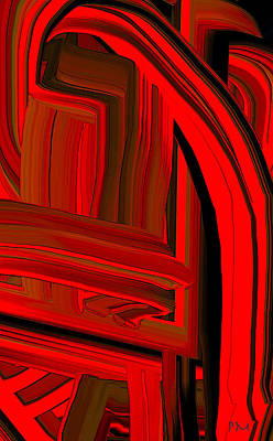 Digital Art - Extruded Color 8 by Phillip Mossbarger